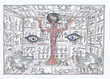 Valérie Lemercier imagine un papier peint pour la Maison Darré présenté au Bon Marché Rive Gauche | PAPIER PEINT | Scoop.it
