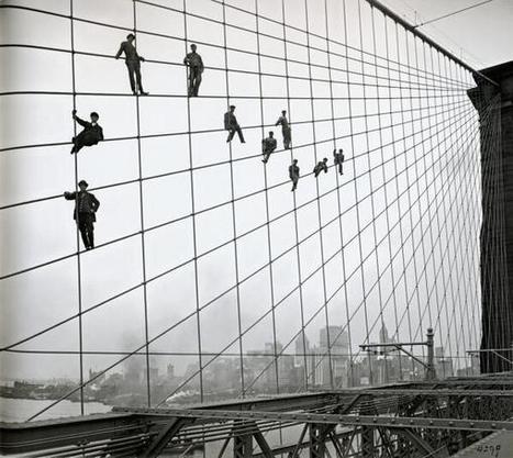 Twitter / History_Pics: Brooklyn Bridge painters, 1914. ... | History | Scoop.it