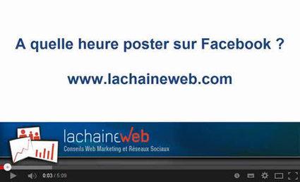 [Video] A quelle heure poster sur votre page Facebook | Médias sociaux & web marketing | Scoop.it