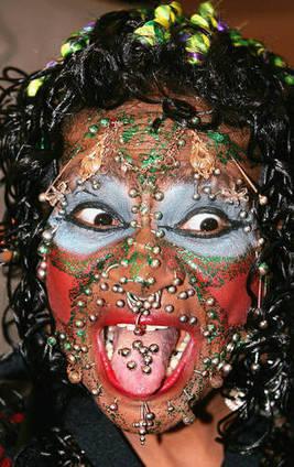 World's Most Pierced Woman   Strange days indeed...   Scoop.it