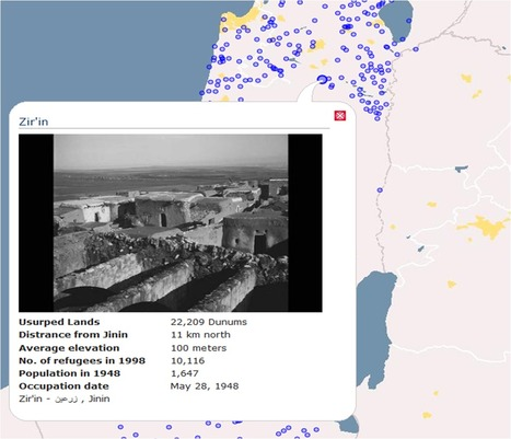 Interactive map of Palestine villages destroyed in Nakba | Geography Education | Scoop.it