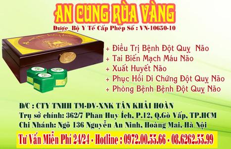 An Cung Ngưu Hoàng Hoàn - Công Ty TNHH TMDV XNK Tân Khải Hoàn   An Cung Rùa Vàng   Scoop.it