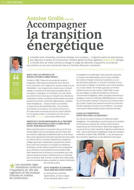 HEI Infos - Accompagner la transition énergétique   Emmanuelle.D   Scoop.it