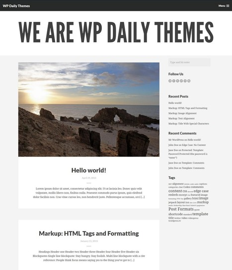 Wharton: A Big and Bold Premium WordPress Theme | Free & Premium WordPress Themes | Scoop.it
