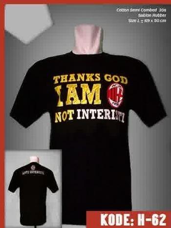 Kaos Bola Thanks God I am Milanisti | Jersey Bola Grade Ori | Baju Bola | jersey | Scoop.it