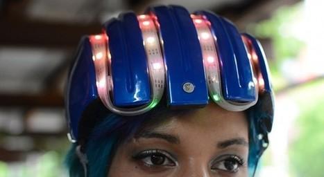 Adafruit smart helmet guides bike riders with Arduino-based light shows | Raspberry Pi | Scoop.it