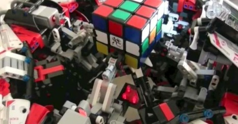 Rubik's Cube-Solving Robot Will Make You Feel Inadequate | Post-Sapiens, les êtres technologiques | Scoop.it