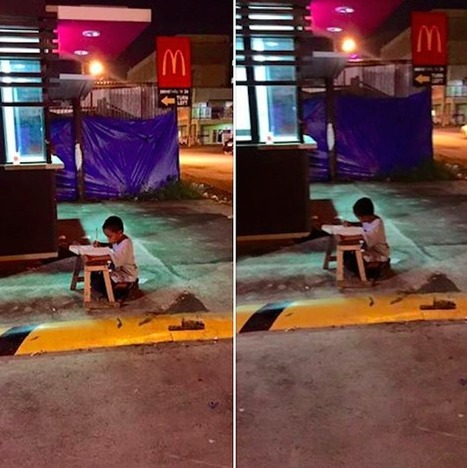 The Life Of A Homeless Boy Changed As A Picture Of Him Doing His Homework Outside Went Viral | IELTS, ESP, EAP and CALL | Scoop.it