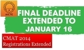 CMAT 2014: Registration extended till January 16 for CMAT 2014 second test - MBAUniverse.com | onlineexams | Scoop.it