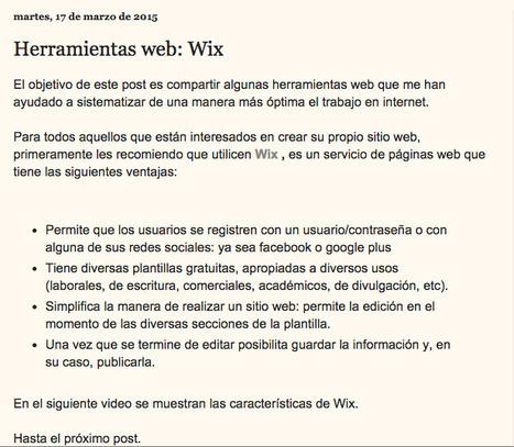 Herramientas de la web: creación de páginas con Wix   Cómo aprender en la era 2.0   Scoop.it