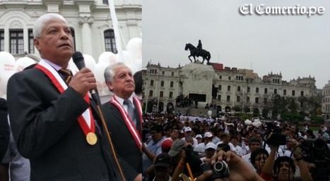 """Marcha por la Paz: unas dos mil personas gritaron """"Terrorismo nunca más"""" en plaza San Martín   Perú Anisima   Scoop.it"""