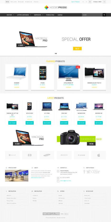 Preciso, Opencart Responsive Bootstrap Theme | Premium Download | Premium Joomla Templates Download | Scoop.it