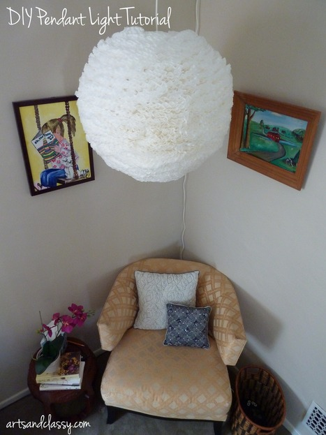 Inexpensive DIY Pendant Lamp Tutorial - Part 2: My Parents Bedroom Makeover   Diy Home Decor on a Budget   Scoop.it