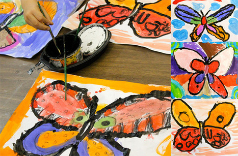 Butterfly Painting Art Lesson | Μέσα και έξω από την τάξη! | Scoop.it