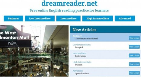 """Dreamreader"" Looks Like An Excellent New Site For English Language Learners 