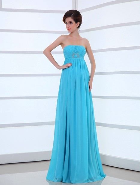 Strapless Floor Length Sleeveless Princess Evening Prom Dress Oho0096 | Fashion Dresses Online | Scoop.it