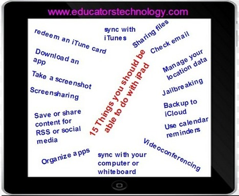 15 Things Every Teacher should Be Able to Do with Their iPad ~ Educational Technology and Mobile Learning | Mobiles Lernen | Scoop.it