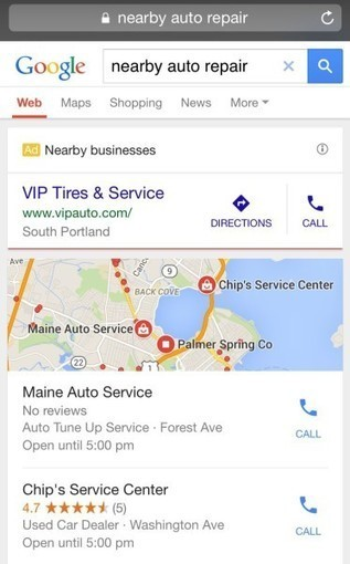 "Google Adds ""Nearby Business"" Mobile Ad Format For Location-Related Searches - Search Engine Land 