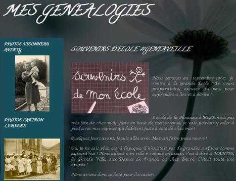 Blog du jour (98) : Mes Généalogies   CGMA Généalogie   Scoop.it