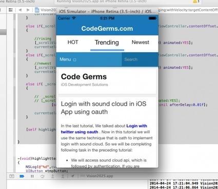 Circular Infinite Scrolling Tabs iOS Custom Control | Code Germs | java programing | Scoop.it
