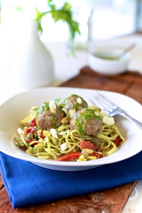 Lamb Meatballs & Mint Pesto Linguine | À Catanada na Cozinha Magazine | Scoop.it