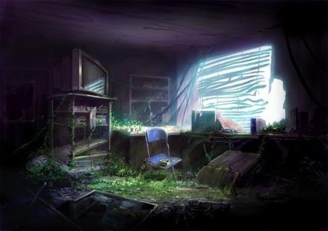 CG背景「廃墟を描いてみた」   アニメ、ゲームの背景の描き方支援サイト_彩玉   World Wide Web in my life   Scoop.it