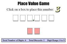 The Place Value Game | Educational websites to use at home | Scoop.it