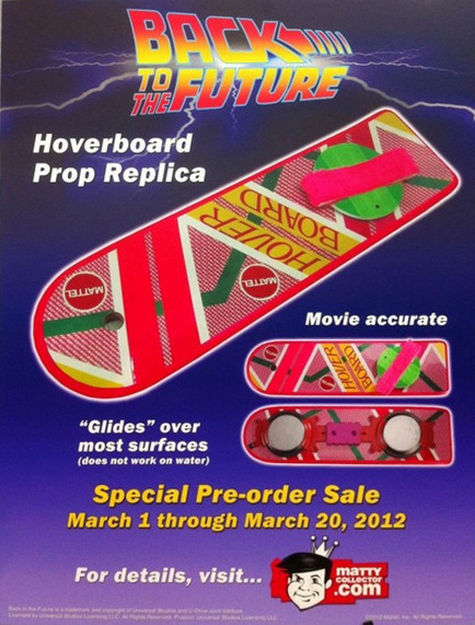 Mattel to release a Real Back to the Future Hoverboard | All Geeks | Scoop.it