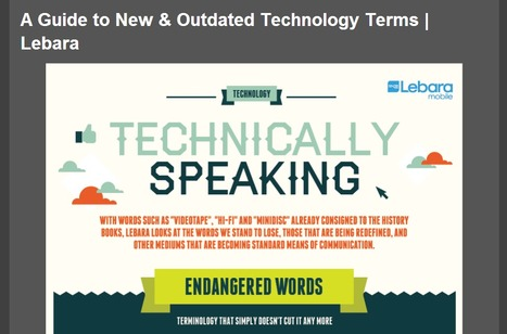Technically Speaking: The New & the Outdated Tech Terms Infographic | 21st Century Technology Integration | Scoop.it