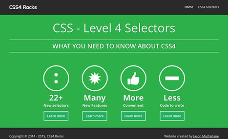 CSS4 Rocks | Learn CSS Level 4 selectors and new features | Web mobile - UI Design - Html5-CSS3 | Scoop.it