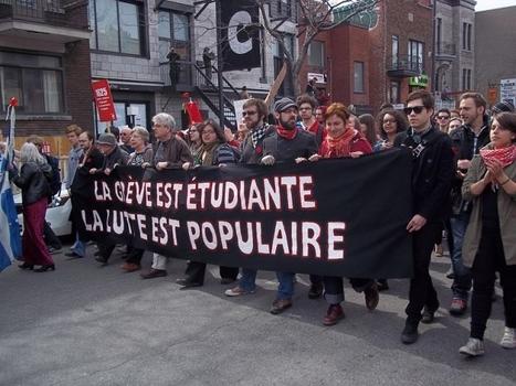 Montréal s'anime au son des casseroles - Partie 1 / France Inter | L'enseignement dans tous ses états. | Scoop.it