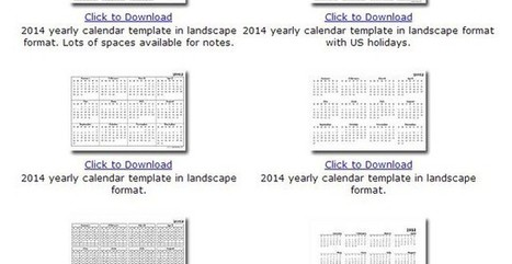 Calendarios 2014 en formato mensual o anual para descarga e impresión | Recursos al-basit | Scoop.it