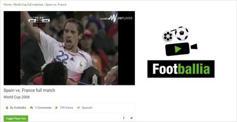 Revoir un match de foot de légende ? Il y a Footballia pour ça | Au fil du Web | Scoop.it