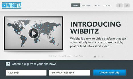 Wibbitz - Convert Text to Video | IKT och iPad i undervisningen | Scoop.it