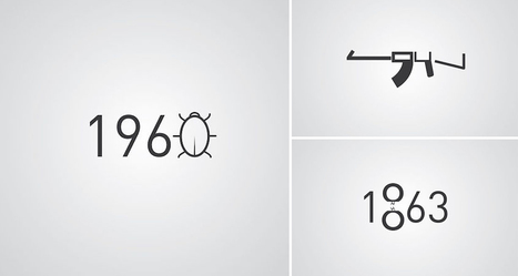 Clever Illustrations Of Historical Events Using Digits From The Year They Occurred In | DigitalSynopsis.com | Scoop.it