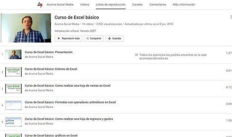 Curso gratuito de Excel básico en 14 lecciones en vídeo | desdeelpasillo | Scoop.it