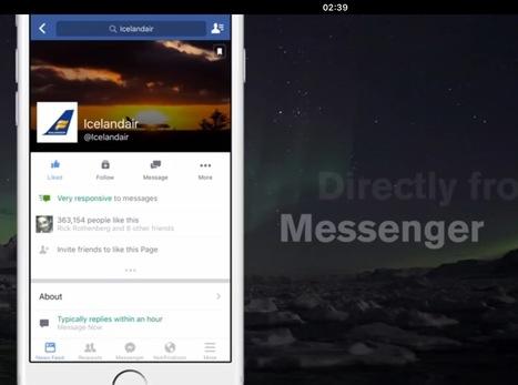 Icelandair propose la résa billetterie sur Messanger de Facebook | Médias sociaux et tourisme | Scoop.it
