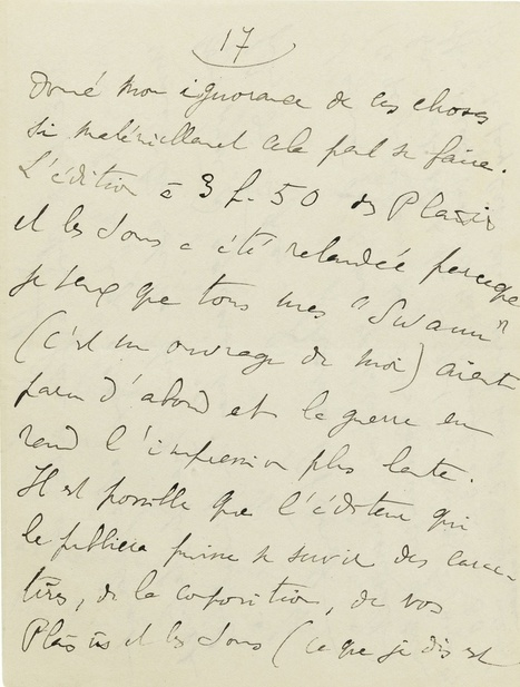 Vente chez Sotheby's de lettres et photos de Marcel Proust - Le blog interligne d' Armelle BARGUILLET  HAUTELOIRE | 2013-2016 The Years of Reading Proust | Scoop.it