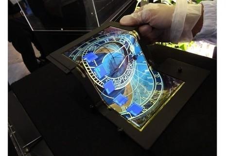 Japoneses desenvolvem display que pode ser dobrado em três partes   tecnologia s sustentabilidade   Scoop.it
