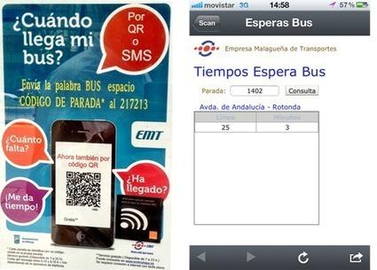 ¿Cuando llega mi bus? QR con información útil para el viajero de la EMT de Málaga.   eDiamSistemas   Todo lo que quieres saber sobre los QRCodes   Scoop.it