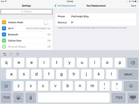 How to add a text-replacement shortcut to your iPad keyboard - iPad Insight | iPads in Education | Scoop.it
