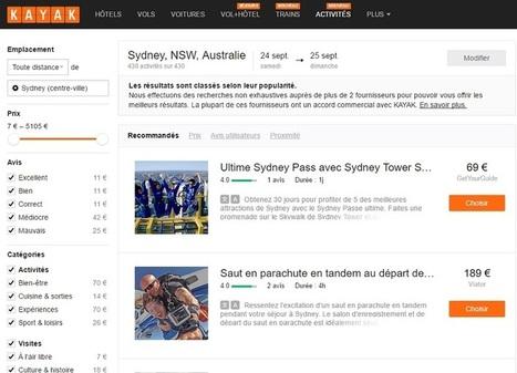 Kayak ajoute les activités et visites touristiques à son offre | Revue de presse | Scoop.it
