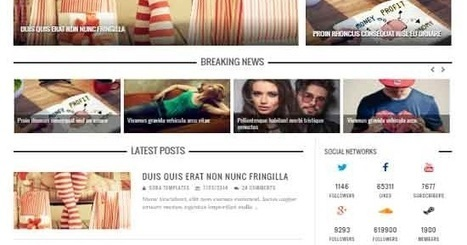 Motive Mag Blogger Template   Blogger themes   Scoop.it