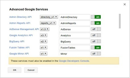 More Google services available in Apps Script - Google Apps Developer Blog | Google Apps Script | Scoop.it