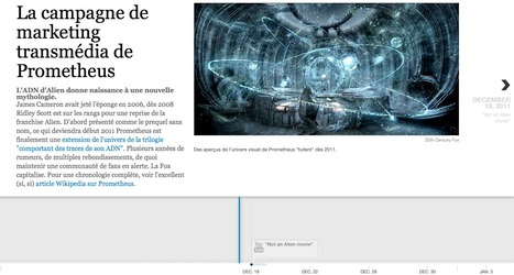 La campagne marketing transmédia de Prometheus en mode timeline | Transmedia lab | Scoop.it