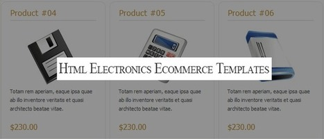 17 responsive electronics ecommerce templates for eStores | Designmain.com - Design, Inspiration & Freebies | Scoop.it