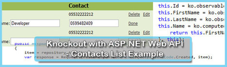 Knockout with ASP.NET Web API - Contacts List Example | Magic Dev | Modern web development | Scoop.it