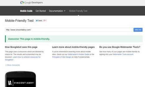 Google lance un outil pour tester si un site est optimisé pour mobile   Web & Social Media - Réseaux sociaux   Scoop.it