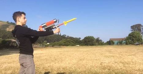 Build a Rechargeable Rocket Launcher That Shoots Over 300 Feet | Make: | Heron | Scoop.it
