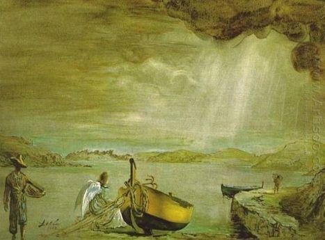 Oil painting reproduction: Salvador Dali The Angel Of Port Lligat - Artisoo.com | Peinture au couteau par MARCHINI | Scoop.it